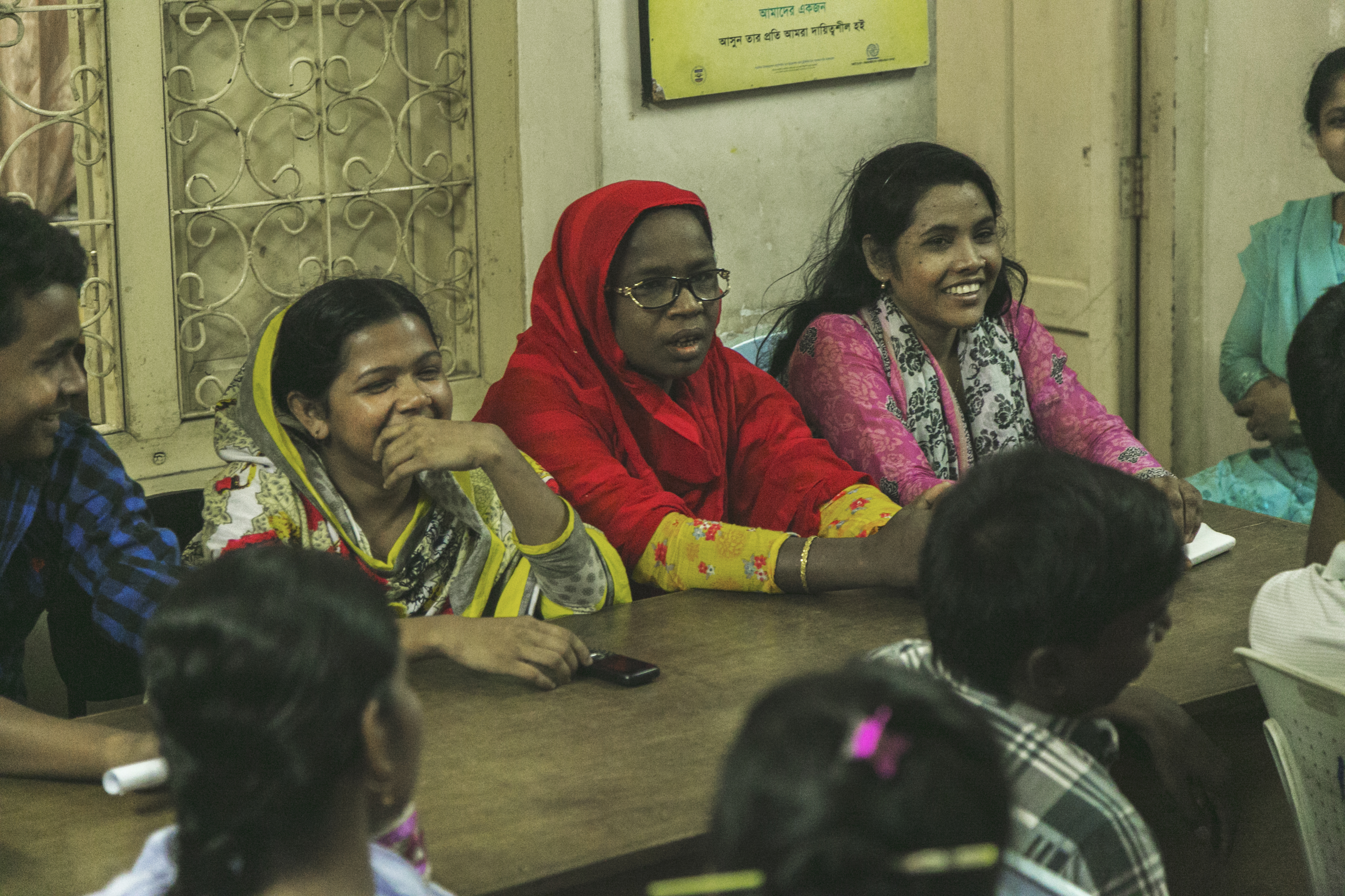 Meeting of Garment Factory Worker Volunteers, Bangladesh