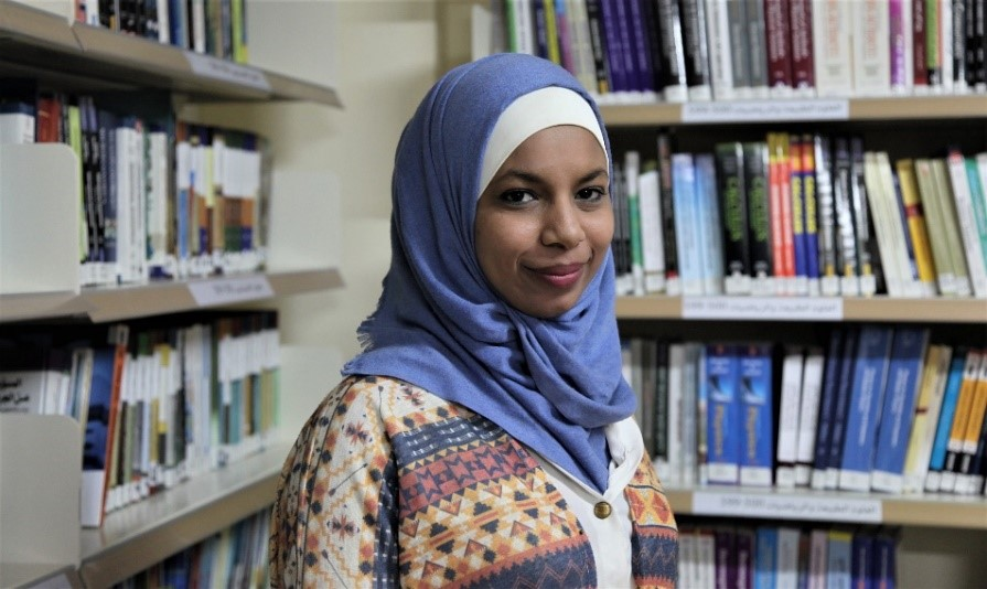 A student in Tulkarem Community Library
