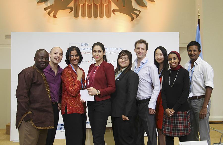 UN Volunteers taking part in the Partnerships Forum 2014.