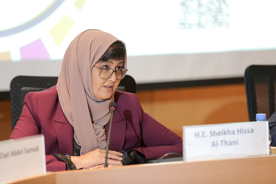 Sheikha Hissa Al-Thani, the League of Arab States Special Envoy for Humanitarian Affairs (Imad Maalouf, UNV 2019)