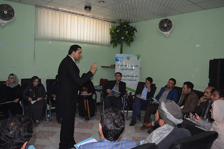 Mullah Caravan discussion session in Mazar province, Afghanistan.