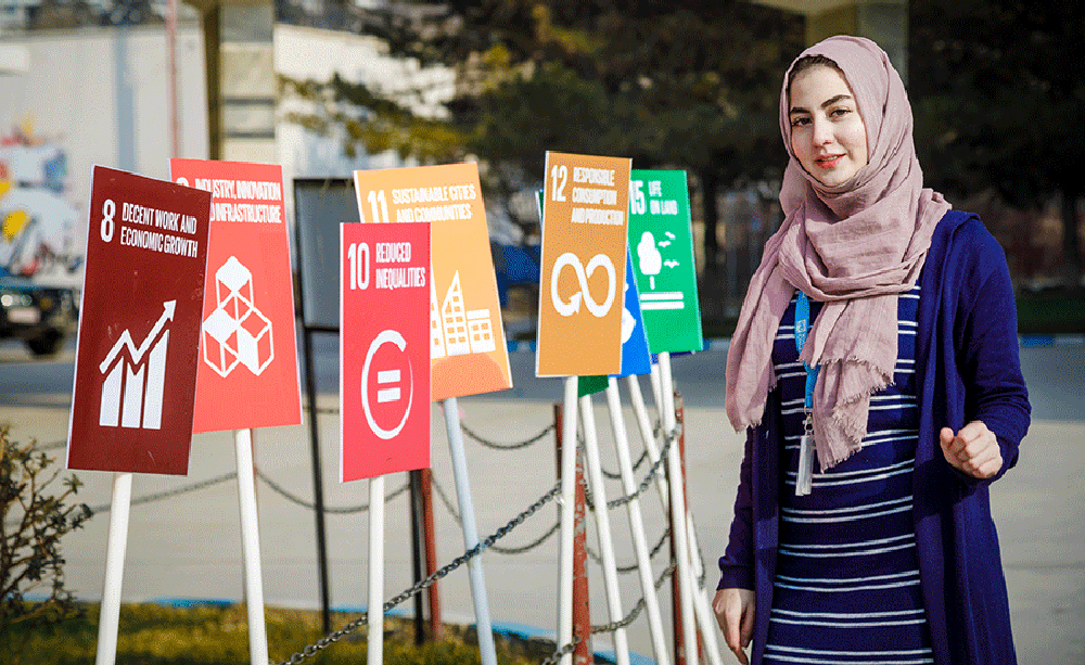 UN Volunteer Asma Halimi is passionate about empowering women in Afghanistan through education.