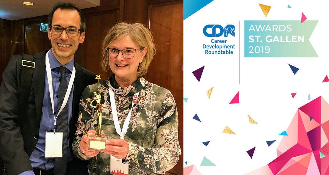 Niels Lohman, UNV Team Lead Capacity Development, and Lykke Andersen, Manager of the UNDP Junior Professional Officer Service Centre, received the Innovation in Recruitment award for the UNDP/UNV Talent Programme for Young Professionals with Disabilities.
