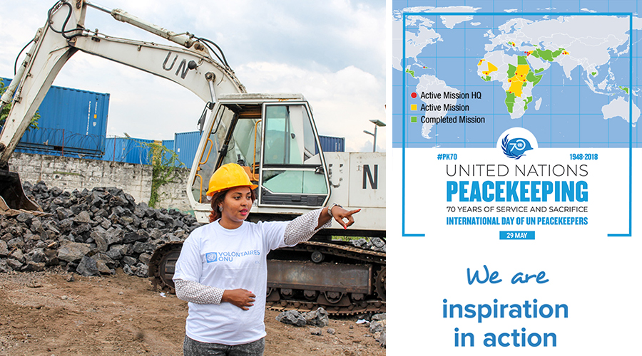 Hanan Ahmed, UN Volunteer supervising work progress of the terminal of the airport of Goma (North Kivu), in the Democratic Republic of the Congo. (UNV, 2016)