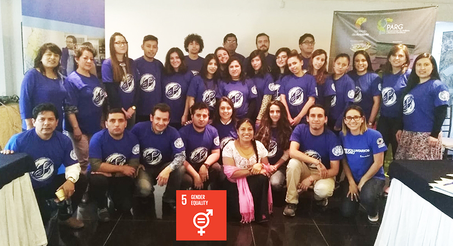 Volunteers leading the UNDP-GEF Global Project ABS  in Ecuador.