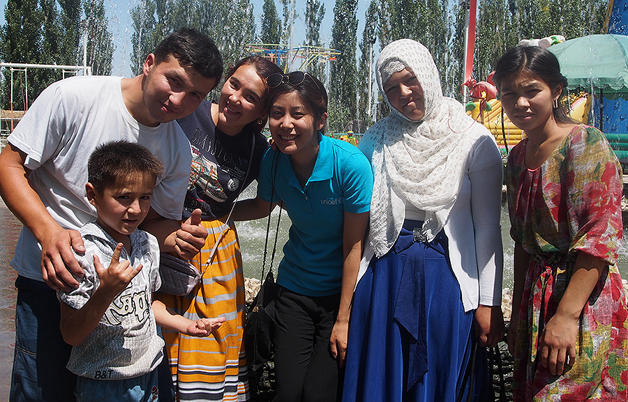 Mariko Kato served with UNICEF in Kyrgyzstan, contributing to social cohesion in the border region to Tajikistan.