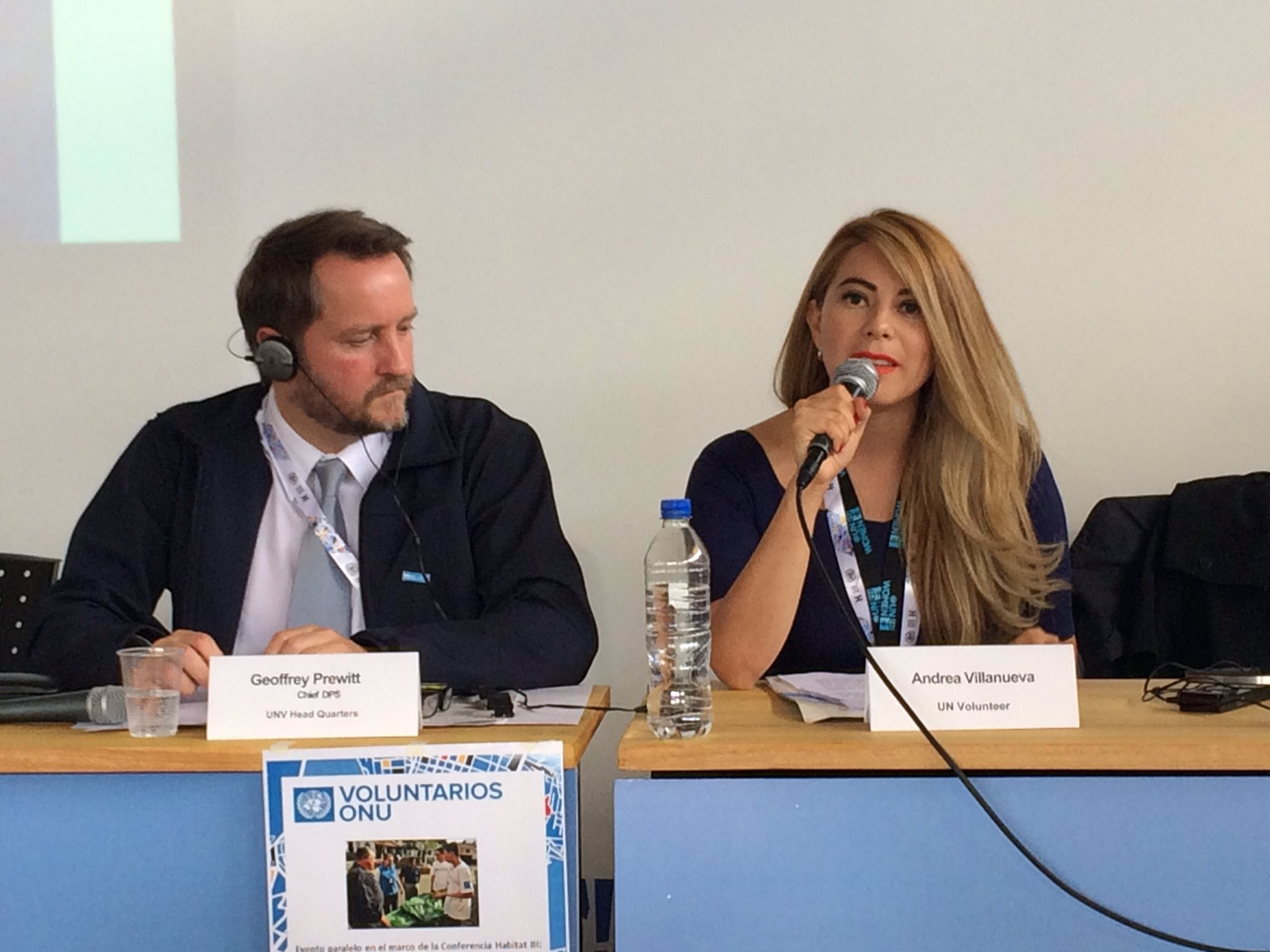 During UNV's side event at Habitat III, Andrea Villanueva, national UN Volunteer with UN Women, talks about her experience helping rebuild the communities affected by the devastating earthquake that shook parts of Ecuador earlier this year.