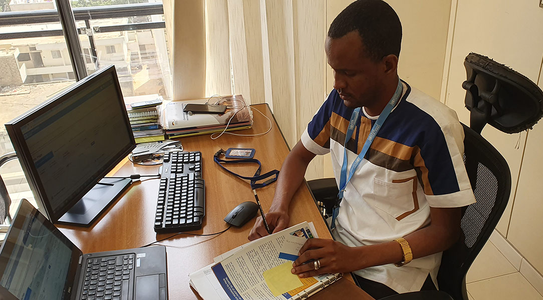 Hamadou Adama Ba serves as a UN Volunteer Project Support Officer for Partnership Development and Knowledge Management with UNDP under the DAFI programme.