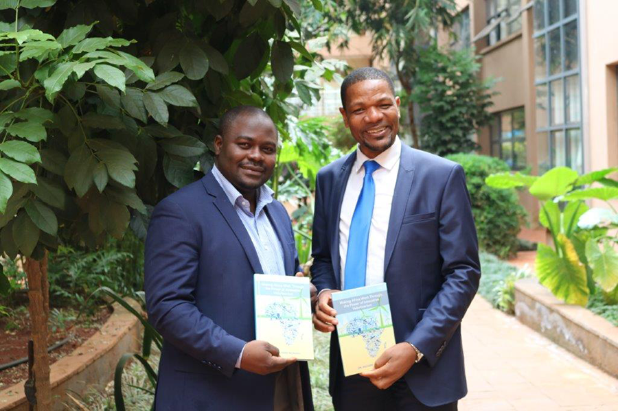 UNV Regional Manager Njoya Tikum and Dr Richard Munang, Africa Regional Climate Change Programme Coordinator with UN Environment (UNEP).