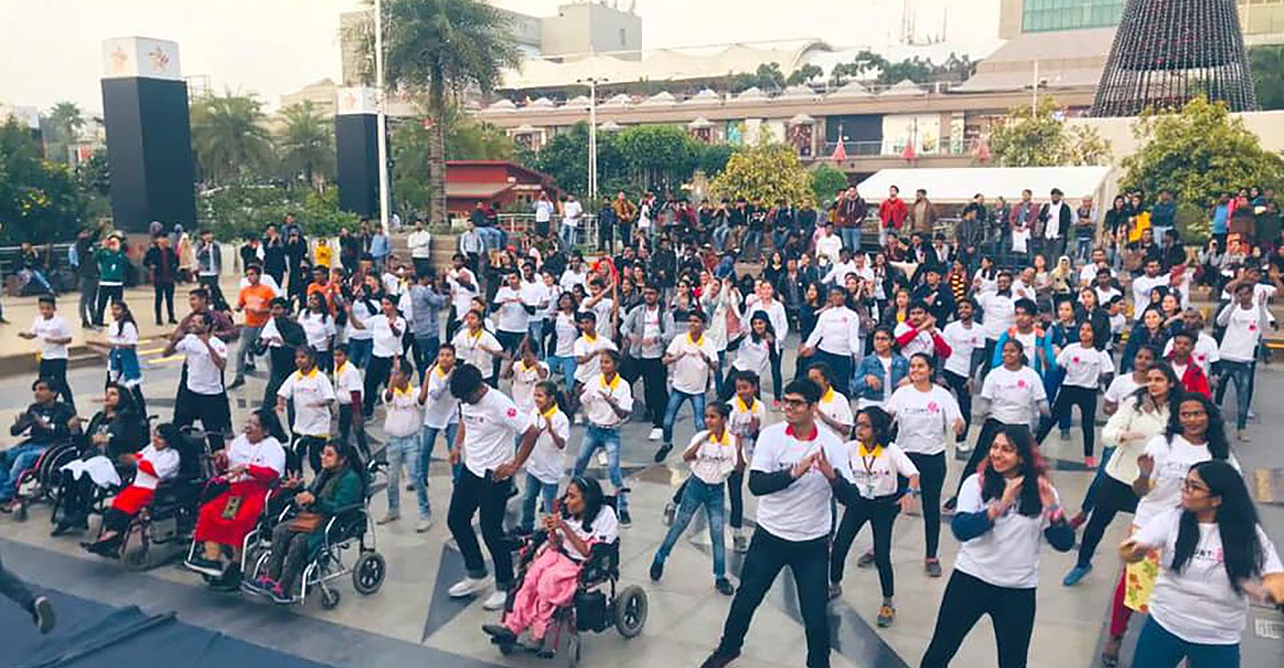 UNV, together with UNHCR and the organization Those In Need, organized a Dance for Inclusion in India to celebrate International Volunteer Day 2019.
