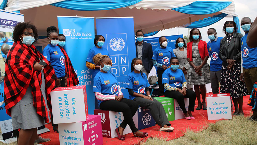 Some of the UN Volunter Health Experts with UNDP in Kenya.