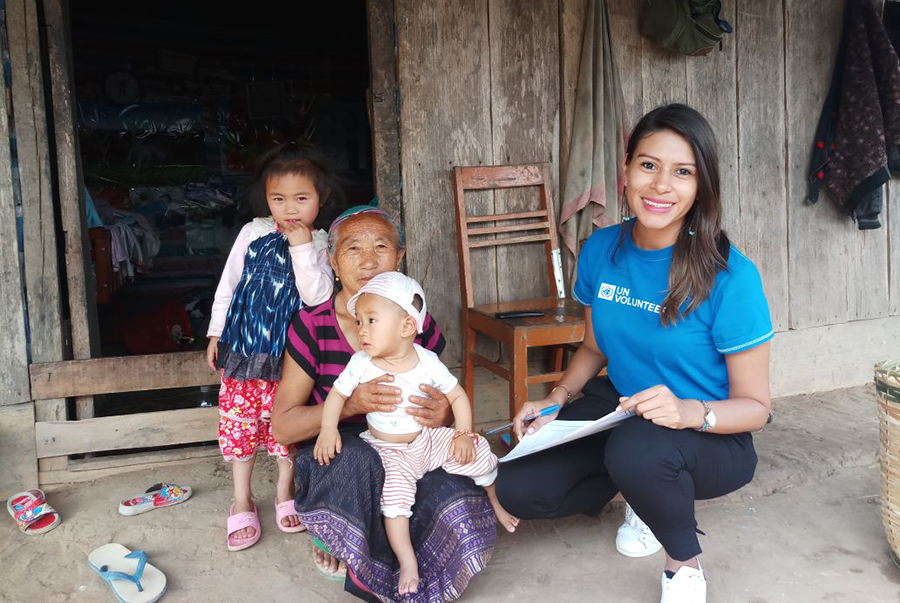 Silvia Illescas is an international UN Volunteer from Nicaragua, serving as Health Advocacy and Coordination Officer with WHO in Lao PDR.