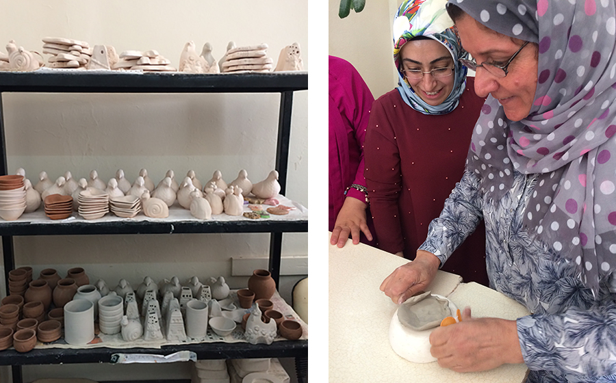 Syrian and Turkish women participated in the Mardin Meydanbaşı ÇATOM ceramic workshops and events, which also contributed to building social cohesion and solidarity.