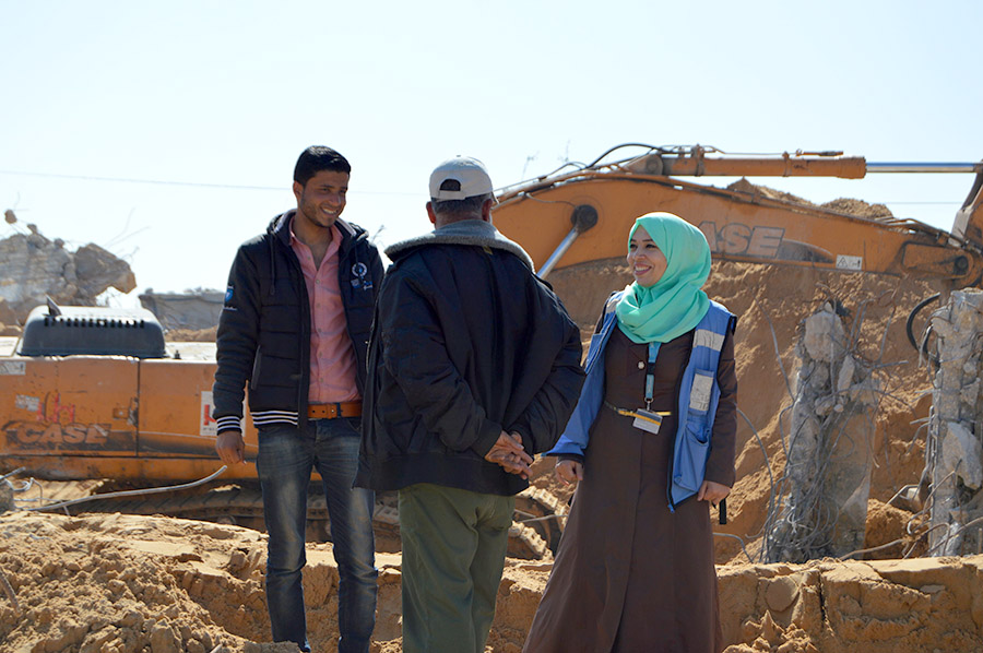 Mona UNV Gaza Palestine