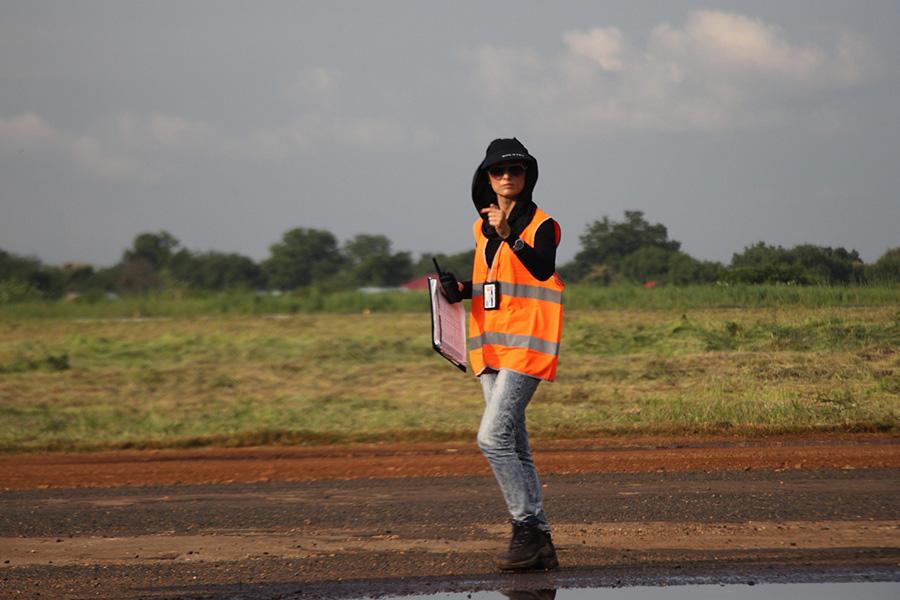 UN Volunteer Air Operations Officer Ia Saadazke in South Sudan