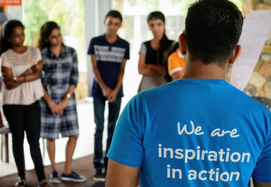 UN Volunteers in Sri Lanka, working with key stakeholders to promote volunteerism.