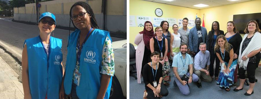 UNHCR Trinidad and Tobago team with UNHCR Assistant High Commissioner and mission representatives.