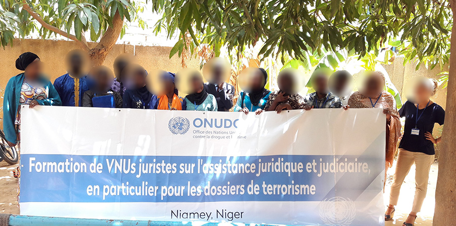 UN Volunteers in Niger with UNODC