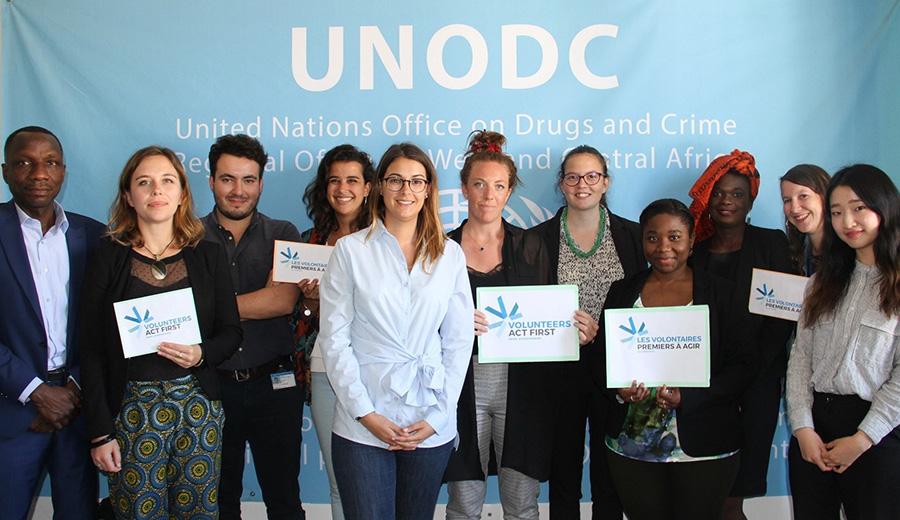 UNV photo in UNODC Regional Office