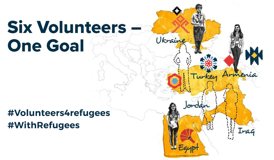 #Volunteers4Refugees campaign tells the story of six UN Volunteers, working fpr one goal: saving lives and building better futures for refugees.