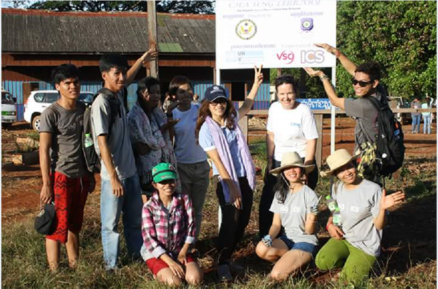 Maeve Anne Halpin, UN Youth Volunteer with UNV Project 'Volunteer Caravan' in Cambodia