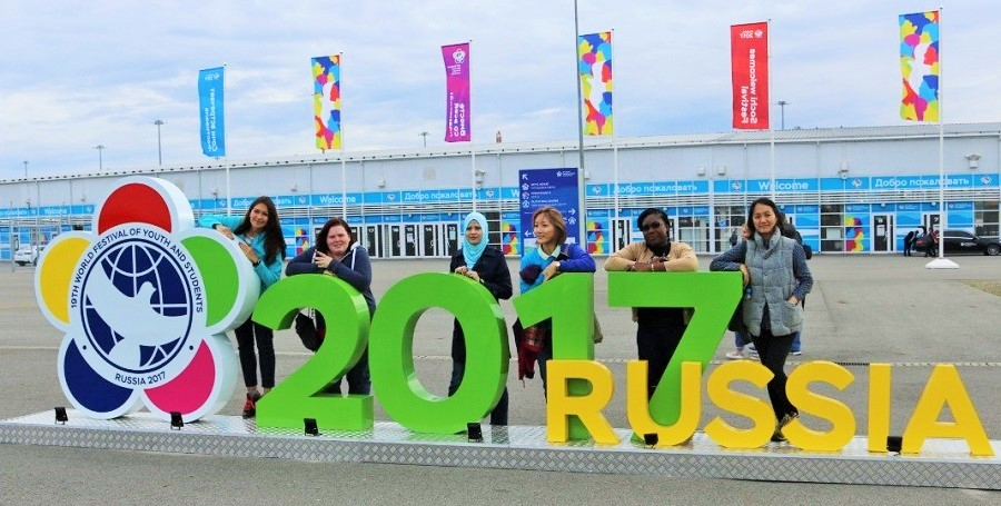 UN Volunteers arrive in Sochi for WFYS
