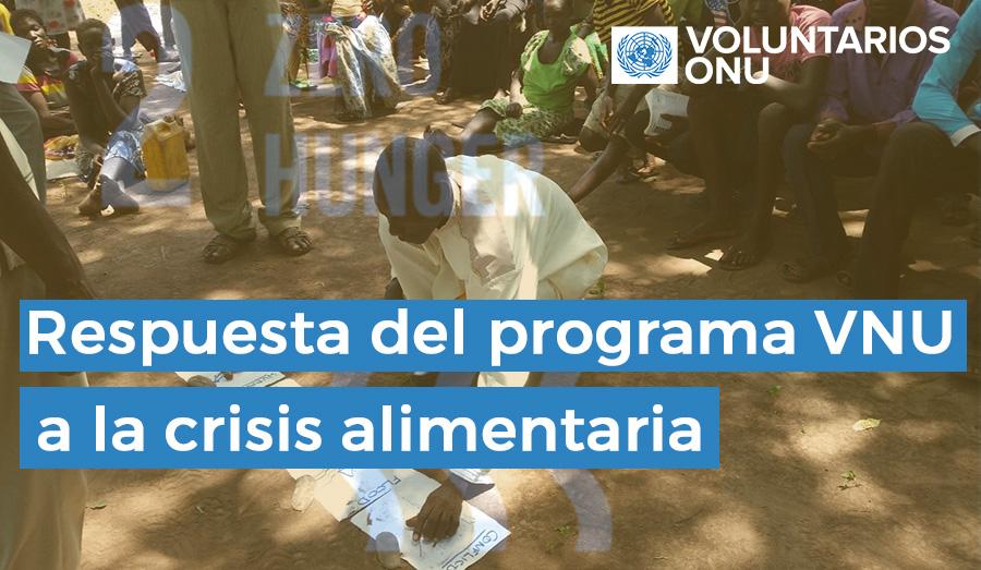 Sila Mohammed Kon, jefe de la comunidad Wulu Gedim, participa en una reunión para seleccionar facilitadores que ayuden a la comunidad a liderar su propio desarrollo y conseguir la seguridad alimentaria. (Programa VNU, 2016)