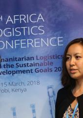 Takako Kaneda (Japan) serves as a UN Volunteer Logistics Officer with WFP under the Human Resource Development Programme.