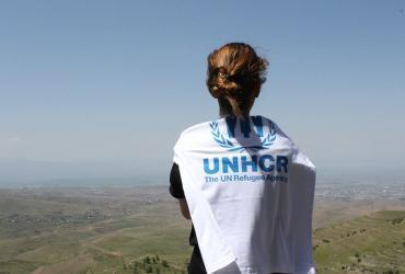 Driven by her motivation to serve the humanitarian mandate of UNHCR, Elsie Aroyan, a refugee from Syria, serves as a national UN Volunteer in Armenia.