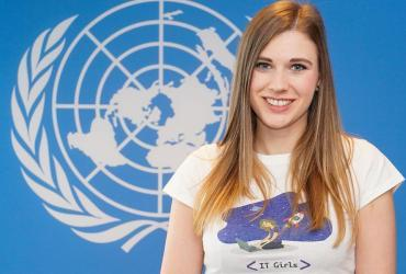 Michaela Ptackova (Czech Republic),  UN Volunteer Youth Skills Development and Entrepreneurship Officer with the United Nations Development Programme (UNDP) in Bosnia and Herzegovina.