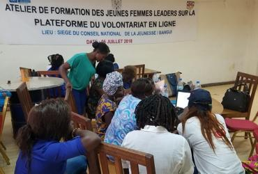 capacity building workshop for girls' organizations on the Online Volunteering service.