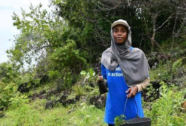 Houda Abdoulbastoi, UN Volunteer Technical Advisor with the UN Development Programme in Foumbouni, Comoros.