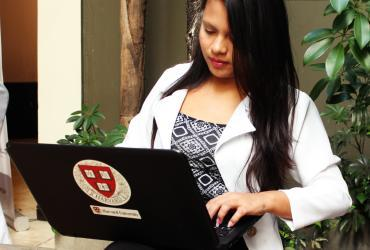 "Cindy Fabiola Alfaro (El Salvador) is one of the UN Online Volunteers who participated in the project ""Development of opinion contents on Social Networks about Social Development Goals (SDG)""."