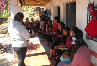 Workshop on human rights organized by UN Volunteers in the village of Santiago Chimaltenango, Guatemala.