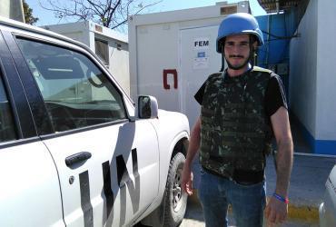 Pablo Sánchez Ortega is a UN Volunteer Environmental Engineer Assistant in the Environmental Compliance Unit (ECU) of MINUSTAH.