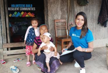Silvia Illescas (right) is an international UN Volunteer from Nicaragua, serving as Health Advocacy and Coordination Officer with WHO in Lao PDR.