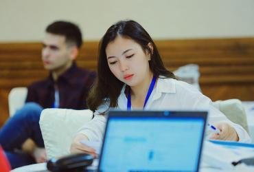Anel Takauova, national UN Volunteer Project Assistant in Nur-Sultan.