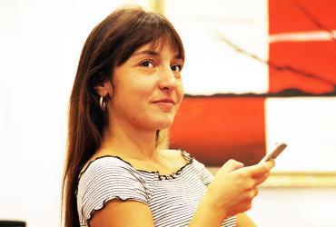 Anisa Bina, former UN Volunteer with UN Women, mentoring at Advocacy Bootcamp, Kosovo (as per UN SC resolution 1244).