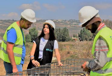 UN Youth Volunteer Zeinab Chamas works to innovate water irrigation practices for a more sustainable future.