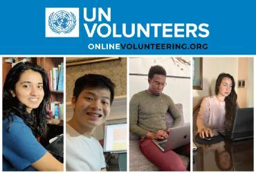 Valentina Fernandez, Edward Yo, Mamadou Ndao and Ashlyn Saveej, Online Volunteers around the world who are fighting COVID-19 from their homes, online.