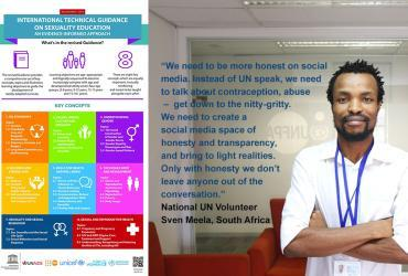Sven Meela is a national UN Volunteer Social Media Fellow with UNFPA in South Africa, supporting social media conversation on reproductive health.