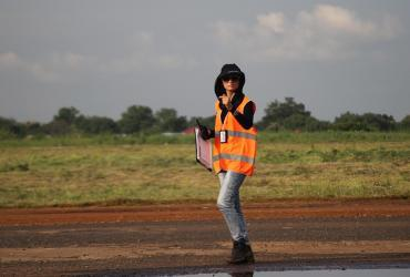 UN Volunteer Air Operations Officer Ia Saadazke in South Sudan