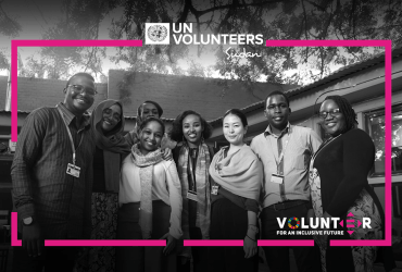 UN Volunteers in Sudan brainstorming for International Volunteer Day in 2019.