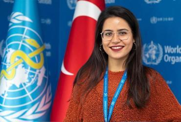 Elif Görkem Arslantürk, a national UN Volunteer serving with WHO as an interpreter/translator.
