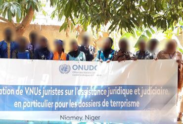 UN Volunteers in Niger with UNODC