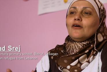 Souad Srej Principal Haifa primary school, Lebanon